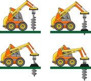 Bohrende Ausrüstung Maschinen des schweren Baus Stockfotografie