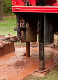 Bohrende geothermische Vertiefung Stockfotos
