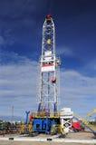 Bohrender Kontrollturm Stockfoto