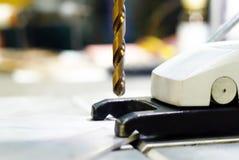 Bohrer der kleinen Standbohrmaschine stockfotografie
