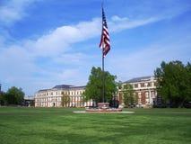 Bohrgerät-Feld an der Staat Mississippi-Universität stockbilder
