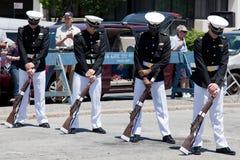 Bohrgerät-Team der Marineakademie Stockfotos
