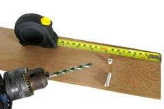 Bohrgerät- und Messenband Stockbild