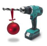 Bohrgerät-Weihnachtsgeschenk Lizenzfreie Stockfotografie