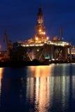Bohrinsel in der Werft Lizenzfreies Stockbild