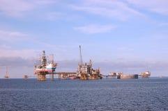 Bohrinseln in der Nordsee Stockfotografie