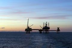 Bohrinseln in der Nordsee Stockbild
