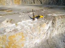 Bohrmaschine im Bergwerk Stockfotos