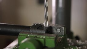 Bohrmaschinearbeiten stock footage