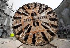 Bohrmaschinekopf des Tunnels Stockfoto