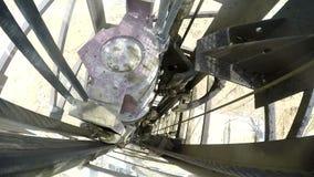 Bohrung auf das Bergwerk stock footage