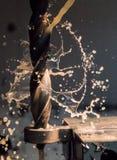 Bohrung in Stahl Lizenzfreies Stockfoto