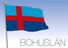 Bohuslan regional flag, Sweden, vector illustration stock photography