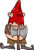 Boia con l'illustrazione del fumetto dell'ascia Immagini Stock