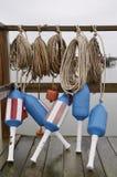 Boia e cordas da lagosta Imagens de Stock Royalty Free