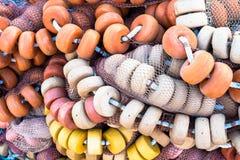 Boia e redes de pesca fotografia de stock royalty free