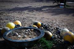 Boia na areia foto de stock royalty free