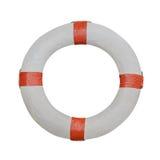Boia salva-vidas isolado no fundo branco Fotos de Stock Royalty Free