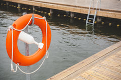 Boia salva-vidas na associação exterior Foto de Stock