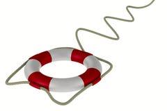 Boia salva-vidas no fundo branco ilustração royalty free