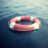 Boia salva-vidas no mar, o oceano ilustração 3D Imagens de Stock Royalty Free