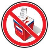 Boicottaggio delle elezioni Fotografia Stock Libera da Diritti