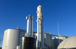 Boigas industrie. Modern biogas plant in the Netherlands, using sugar beet pulp as a renewable form of energy production stock photos