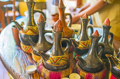 Boiing krukor för etiopisk jebena Royaltyfria Foton