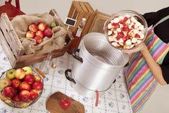 Boil apples Stock Photo