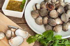 Boil Blood Cockle seafood Stock Photos
