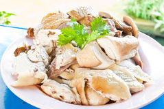 Boil chicken and Boiled duck. Thai food Stock Photography