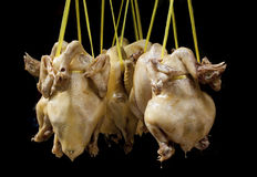 Boil Chicken hang up Royalty Free Stock Photos