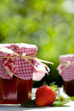 Boil down strawberry jam. Strawberry jam country life nature stock image