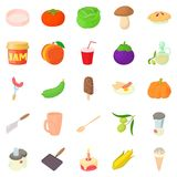 Boil icons set, cartoon style Royalty Free Stock Photography
