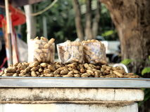 Boil nut. For sale in Thailand as snack Stock Images
