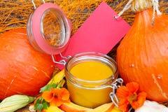 Boil pumpkin cream soup Stock Images