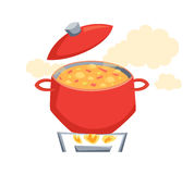 Boil the soup Stock Photos