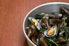 Boiled Asian green mussel, Perna viridis Royalty Free Stock Photography