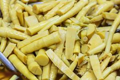 Boiled bamboo shoots Royalty Free Stock Image