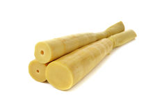 Boiled bamboo shoots on white Royalty Free Stock Photography