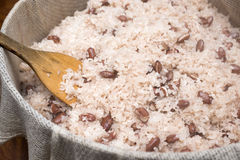 Boiled bean rice Stock Images