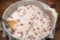 Boiled bean rice Royalty Free Stock Photos
