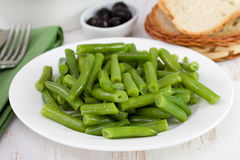 Boiled beans on the plate Royalty Free Stock Image