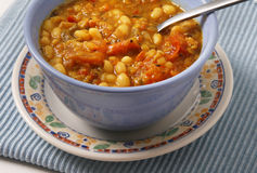 Boiled beans with tomato Stock Images