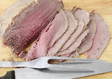 Boiled beef slices Royalty Free Stock Photos