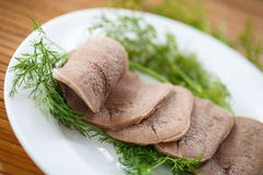 Boiled beef tongue Stock Photography