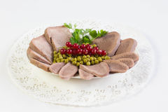 Boiled beef tongue Stock Image