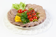 Boiled beef tongue Royalty Free Stock Photography