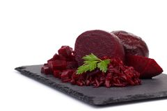 Boiled beetroot cut into slices Stock Photography