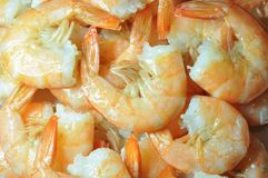 Cooked shrimps. Stock Photo